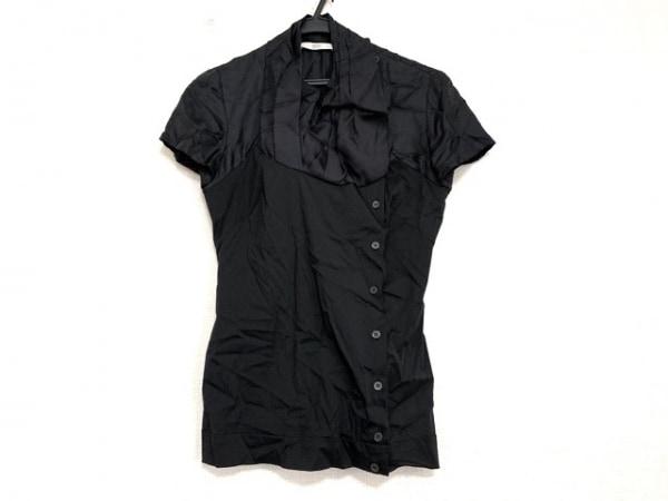 PRADA(プラダ) 半袖シャツブラウス サイズ38 S レディース美品  黒 異素材切替