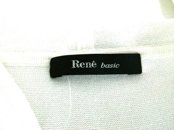 Rene(ルネ) パーカー サイズ34 S レディース 白×ベージュ ボーダー 3