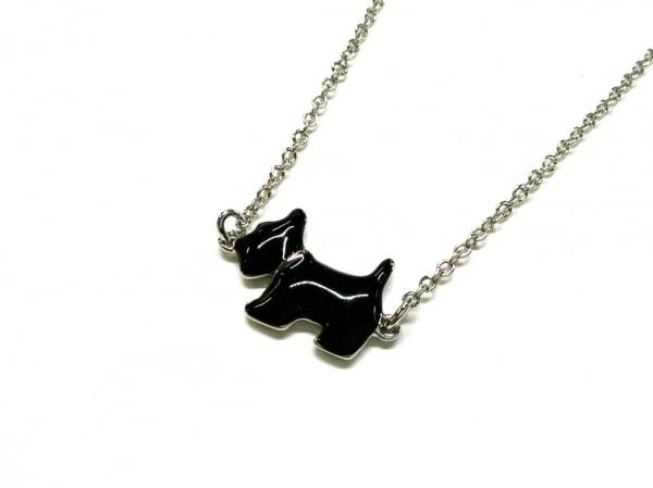 AGATHA(アガタ) ネックレス美品  金属素材 シルバー×黒 イヌモチーフ
