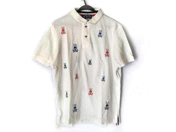 PsychoBunny(サイコバニー) 半袖ポロシャツ サイズL レディース アイボリー 刺繍