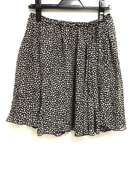 ミューズデドゥーズィエムクラス スカート レディース美品  黒×アイボリー シルク
