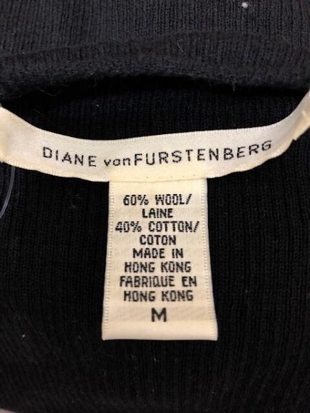 ダイアン・フォン・ファステンバーグ 半袖セーター サイズM レディース 黒