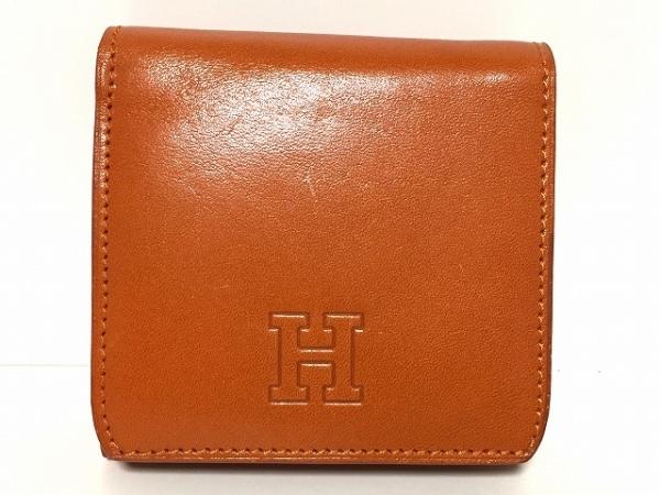 HIROFU(ヒロフ) 3つ折り財布 オレンジ レザー