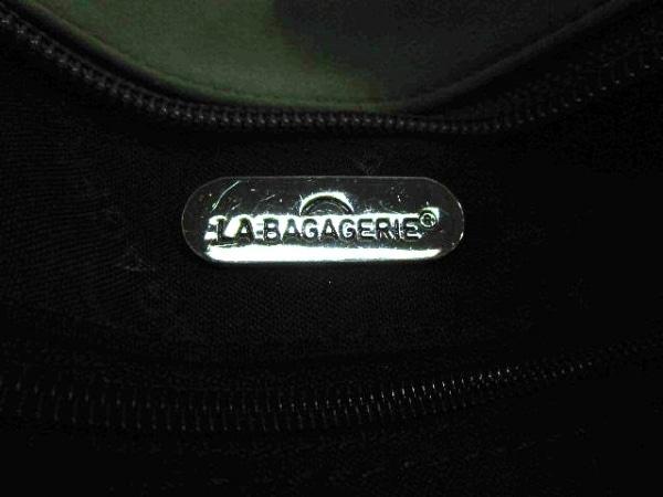 LA BAGAGERIE(ラバガジェリー) ハンドバッグ カーキ×ブラウン ナイロン×レザー