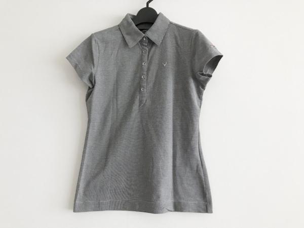 CALLAWAY(キャロウェイ) 半袖ポロシャツ サイズM レディース美品  黒×白 千鳥格子