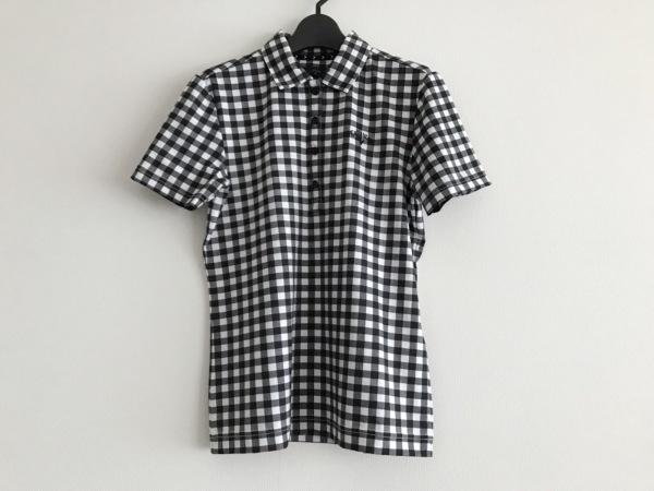 CALLAWAY(キャロウェイ) 半袖ポロシャツ サイズM レディース美品  白×黒 チェック柄