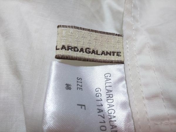 GALLARDAGALANTE(ガリャルダガランテ) ジャケット サイズF レディース 白