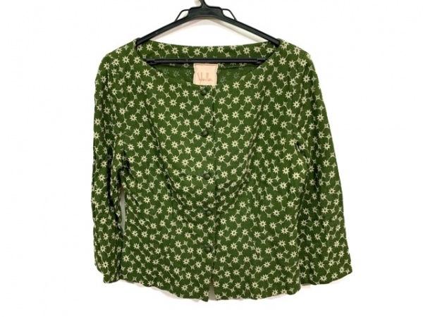 Sybilla(シビラ) ジャケット サイズM レディース ダークグリーン×アイボリー 刺繍