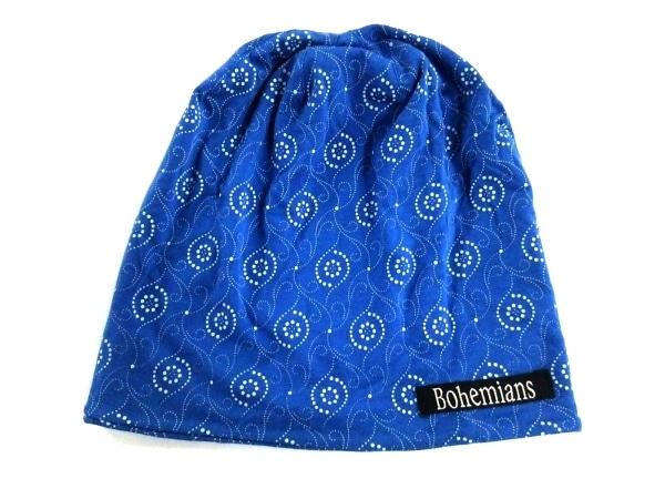 Bohemians(ボヘミアンズ) 帽子美品  ブルー×ライトブルー コットン