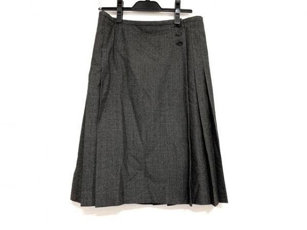 マーガレットハウエル スカート サイズ3 L レディース美品  グレー×ダークグレー