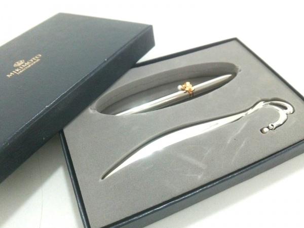 mikimoto(ミキモト) 小物美品  シルバー×ゴールド×アイボリー 金属素材×パール