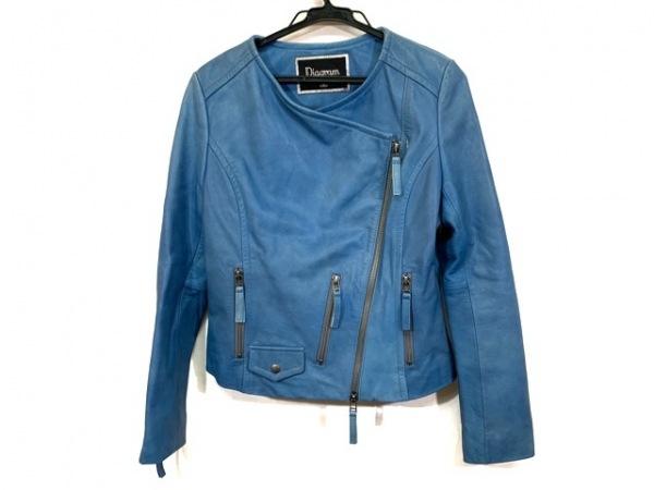 ダイアグラム ライダースジャケット サイズ36 S レディース ブルー 春・秋物/レザー