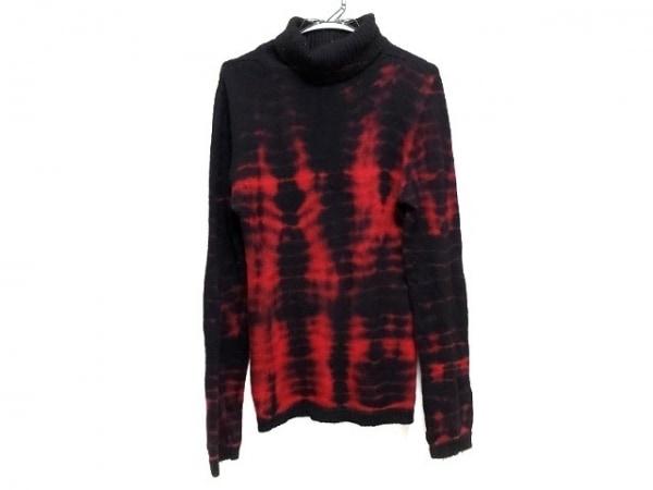 5351 PourLesHomme(5351プールオム) 長袖セーター メンズ 黒×レッド タートルネック