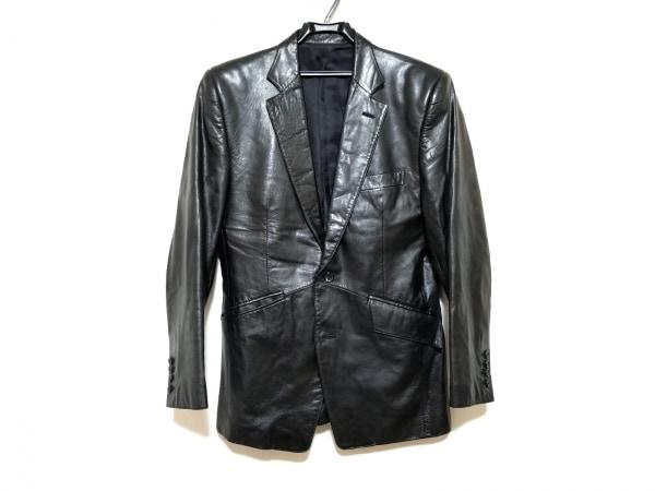 5351 PourLesHomme(5351プールオム) ジャケット サイズ3 L メンズ美品  黒 レザー