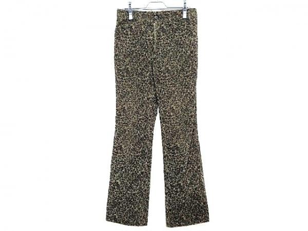5351 PourLesHomme(5351プールオム) パンツ サイズ3 L メンズ 黒×カーキ ベロア/花柄