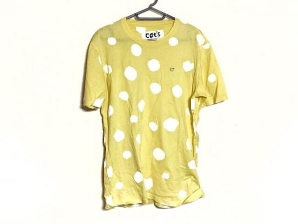 ツモリチサト 半袖Tシャツ レディース新品同様  イエロー×白 ドット柄