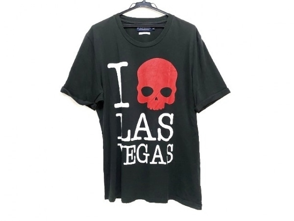 HYDROGEN(ハイドロゲン) 半袖Tシャツ サイズ3XL メンズ 黒×白×レッド スカル