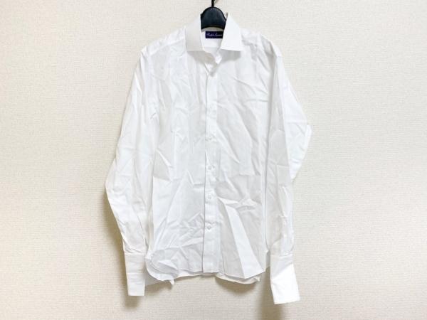 ラルフローレンコレクション パープルレーベル 長袖シャツ メンズ美品  白