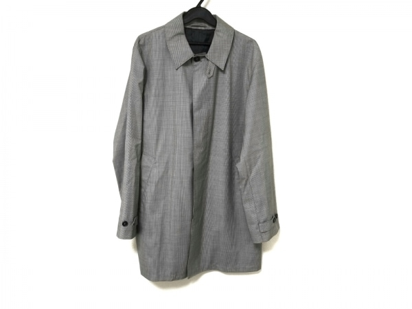 dunhill/ALFREDDUNHILL(ダンヒル) コート メンズ 黒×白 千鳥格子/春・秋物