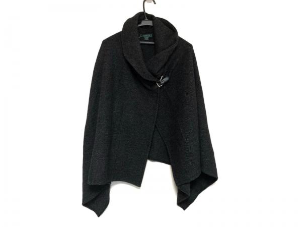RalphLauren(ラルフローレン) ポンチョ レディース美品  黒×ダークグレー