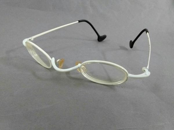 theo(テオ) メガネ 白×黒 度入り プラスチック×金属素材