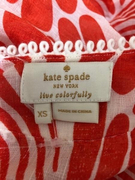 Kate spade(ケイトスペード) ワンピース サイズXS レディース オレンジ×アイボリー