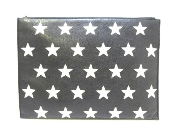 サンローランパリ クラッチバッグ美品  397295 黒×シルバー スター レザー