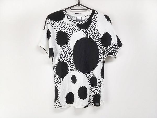 ゴルチエ 半袖Tシャツ サイズ36 S レディース 黒×白 ドット柄/SEPT PREMIERES