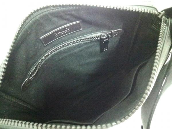 バリー ショルダーバッグ美品  6224073 黒×ボルドー×アイボリー 6