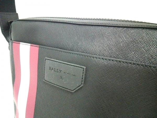 バリー ショルダーバッグ美品  6224073 黒×ボルドー×アイボリー 8