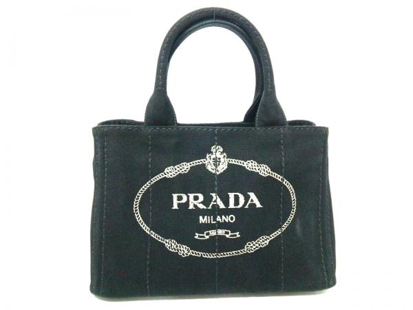 PRADA(プラダ) トートバッグ CANAPA 黒 キャンバス