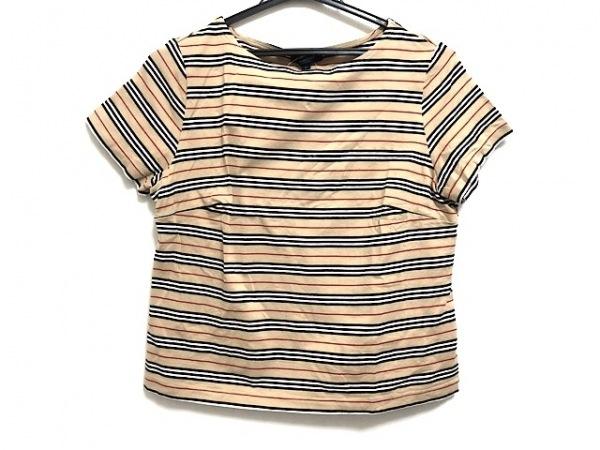 バーバリーロンドン 半袖Tシャツ サイズF レディース美品  ベージュ×黒×マルチ