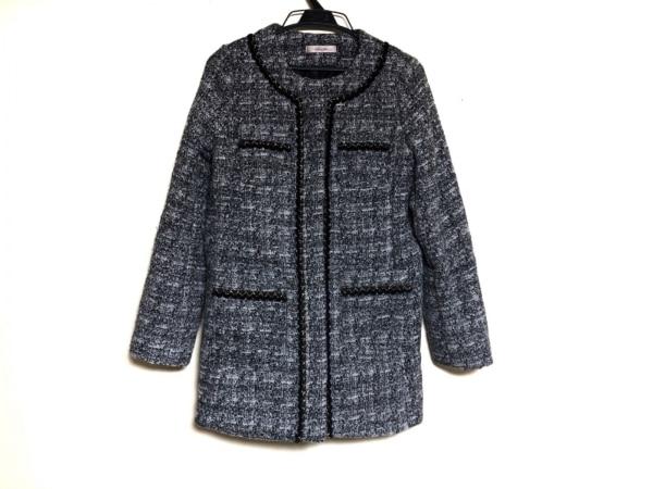 PeachJohn(ピーチジョン) コート サイズXS レディース グレー×黒×白 冬物