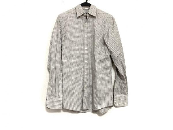 ゼニア 長袖シャツ サイズS メンズ美品  ライトグレー×ダークグレー×マルチ