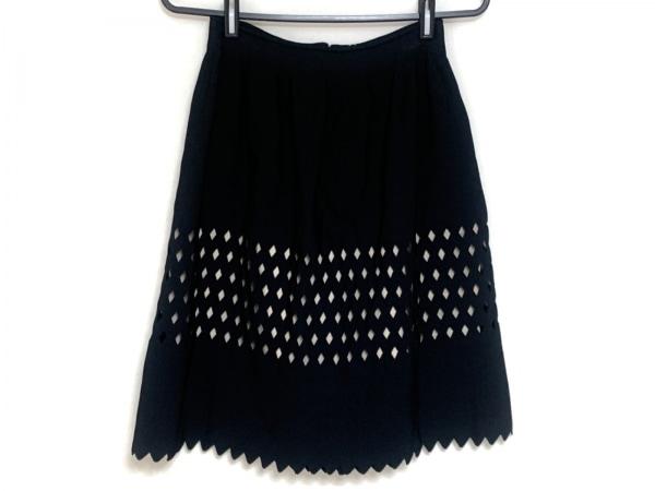 FENDI(フェンディ) スカート サイズ40 M レディース 黒×ベージュ