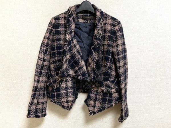 リフレクト ジャケット サイズ9 M レディース美品  黒×ピンク スパンコール/ラメ