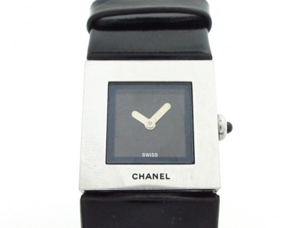 CHANEL(シャネル) 腕時計 マトラッセ - レディース 革ベルト 黒