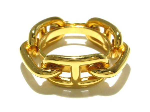 HERMES(エルメス) スカーフリング美品  シェーヌダンクル 金属素材 ゴールド
