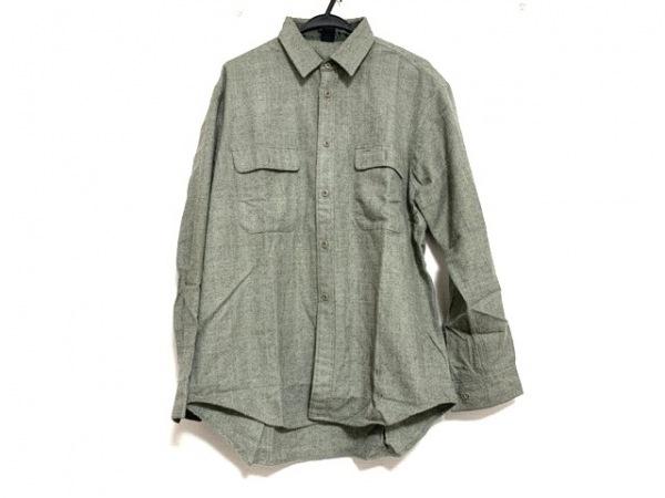 mont-bell(モンベル) 長袖シャツ サイズXL メンズ ライトグレー×黒