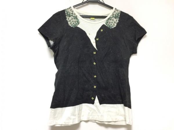 Paul+ PaulSmith(ポールスミスプラス) 半袖Tシャツ レディース 黒×白×マルチ