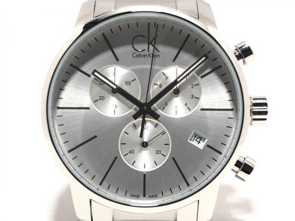 CalvinKlein(カルバンクライン) 腕時計美品  K2G271 メンズ クロノグラフ シルバー