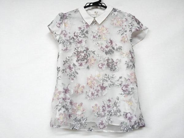 アプワイザーリッシェ 半袖カットソー サイズ2 M レディース 白×マルチ 花柄