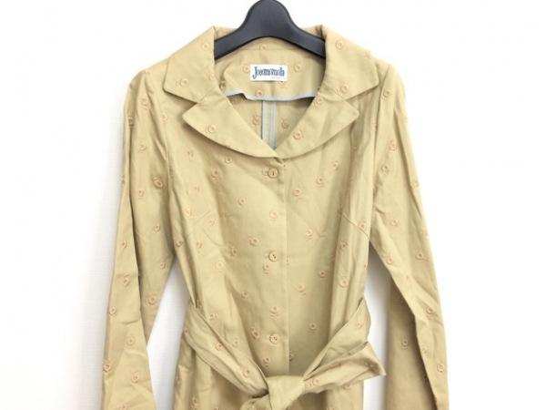 JOCOMOMOLA(ホコモモラ) コート サイズ42 L レディース ベージュ 春・秋物/刺繍