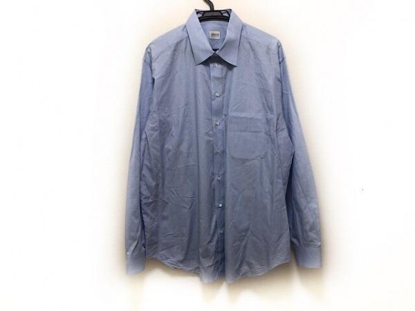 アルマーニコレッツォーニ 長袖シャツ サイズ43/17 メンズ ライトブルー