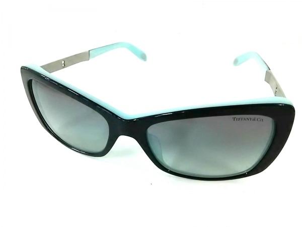 ティファニー サングラス美品  TF4075-B-A ダークグレー×黒×マルチ ラインストーン