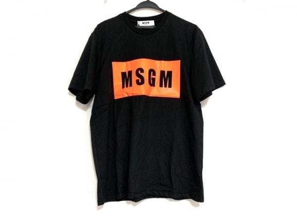 MSGM(エムエスジィエム) 半袖Tシャツ サイズSPA3MEP44 レディース美品  黒×オレンジ
