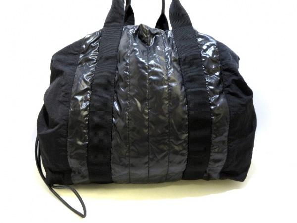 CHANEL(シャネル) トートバッグ美品  - 黒 2way/巾着型/シルバー金具 ナイロン