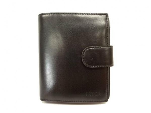 FURLA(フルラ) 2つ折り財布 黒 レザー