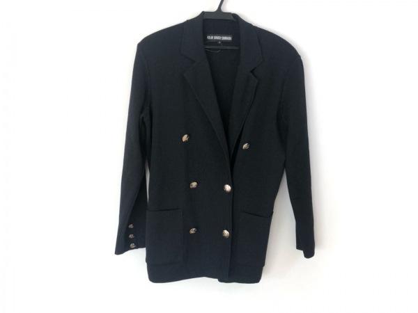 49アベニュージュンコシマダ ジャケット サイズ9 M レディース美品  黒×ゴールド