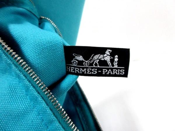 HERMES(エルメス) トートバッグ パニエドプラージュPM ライトブルー×ブラウン